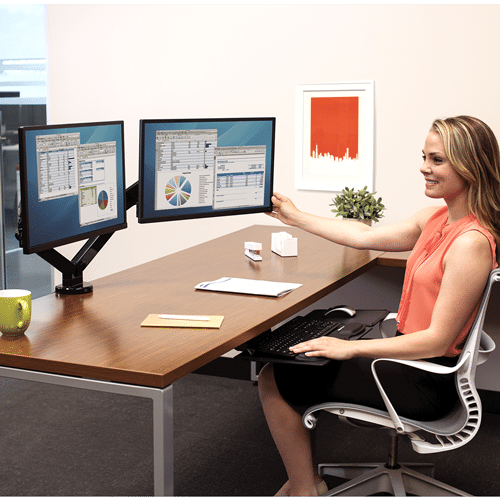Fellowes Dual 360-degree Adjustable Monitor Arm