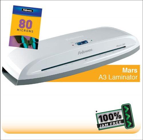 Fellowes Mars A3 Home and Personal Laminator with 100% Jam Free* Mechanism |