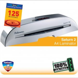 Fellowes Saturn 2 A4 Small Office Laminator with 100% Jam Free* Mechanism and HeatGuard |