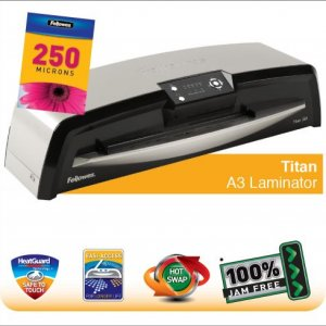 Fellowes Titan A3 Large Office Laminator with 100% Jam Free* Mechanism and HotSwap |