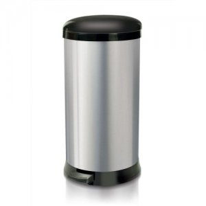 Addis Pedal Bin Cushion Close 30 Litre Stainless Steel Ref 518017 |