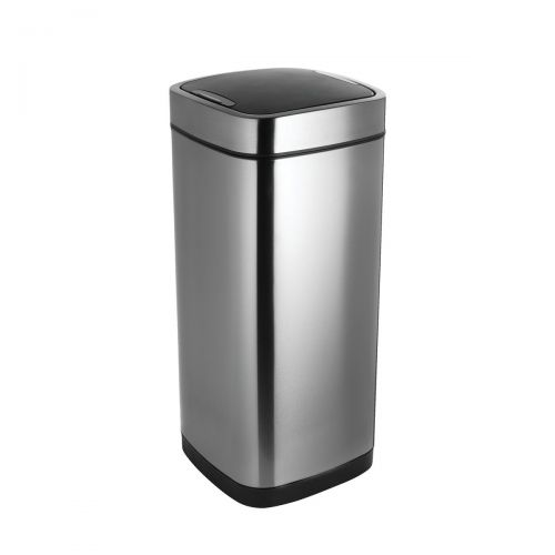Addis Deluxe Square Waste Bin 40 Litre Press Top Stainless Steel Ref 513914 |