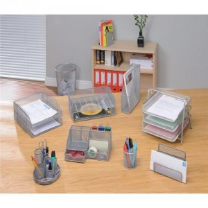A Wire Mesh Letter Tray For Your Office Desk 9